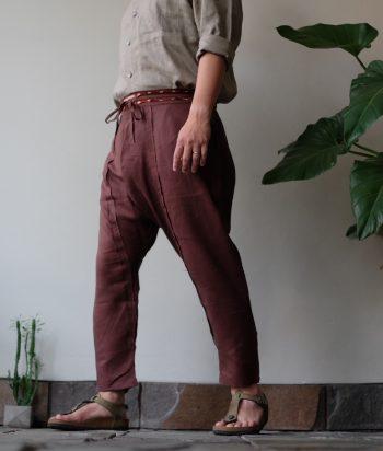 COTE PANTS BROWN