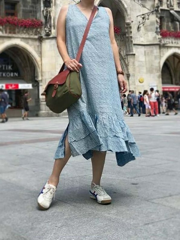 Aelia dress indigo