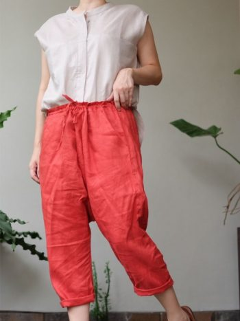 Crop pants terracotta